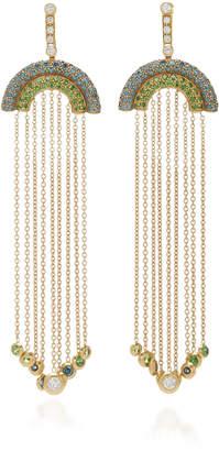 Robinson Pelham Juke 18K Gold Sapphire Diamond and Tsavorite Earrings