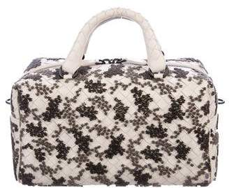 Bottega Veneta Flocked Velvet Bouquet Duffel Bag w/ Tags