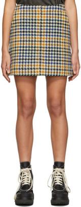 McQ Multicolor Check Topstitch Miniskirt