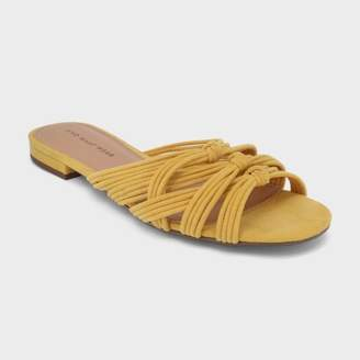 Who What Wear Women's Finley Knotted Slide Sandal