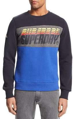 Superdry Vintage Logo-Print Color-Block Sweatshirt
