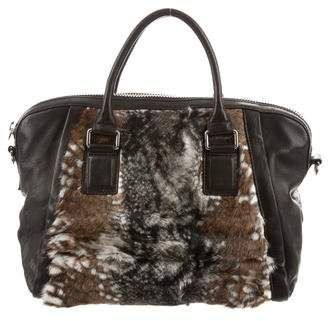 Yigal Azrouel Fur-Trimmed Satchel w/ Tags