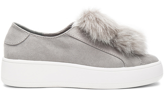 Steve Madden Bryanne Faux Fur Sneaker $90 thestylecure.com