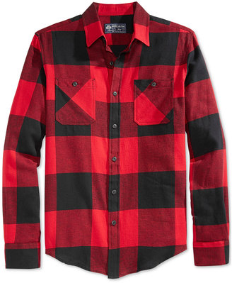 American Rag Men's Buffalo Plaid Flannel Shirt $40 thestylecure.com