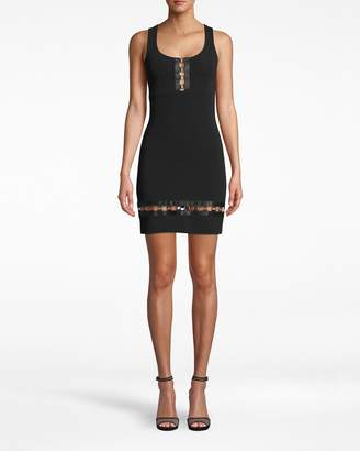 Nicole Miller Heavy Jersey Square Ring Scoop Neck Dress