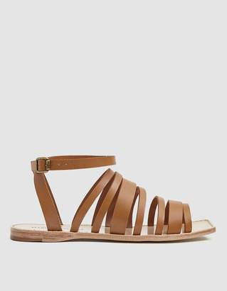 Mari Giudicelli Costa Flat Strappy Sandal in Tan