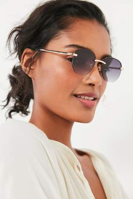 Urban Outfitters Geo Rimless Round Sunglasses