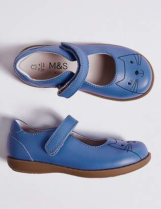 Marks and Spencer Kidsâ Leather Cross Bar Shoes (5 Small - 12 Small)