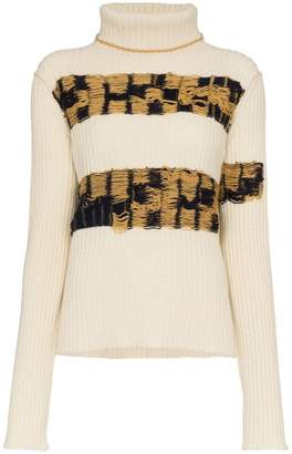 Calvin Klein embroidered lambswool turtleneck jumper