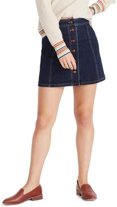 Madewell Stretch Denim Straight Miniskirt