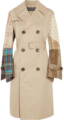 Junya Watanabe - Patchwork Cotton-gabardine, Tweed And Jacquard Trench Coat - Beige $2,475 thestylecure.com