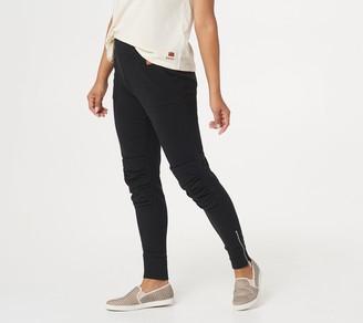 Peace Love World Tapered Leg Side Zip Jogger Pants