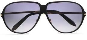 Victoria Beckham Aviator-style Acetate And Gold-tone Sunglasses