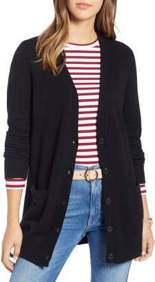 1901 Varsity Stripe Long Cardigan