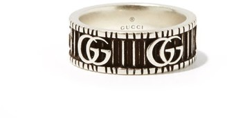 Gucci Gg Marmont Silver Ring - Mens - Silver