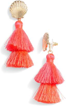 Lilly Pulitzer R Shell Yeah Tassel Earrings