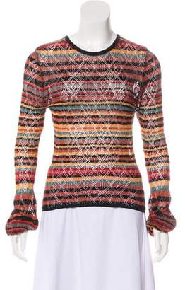 Ronny Kobo Patterned Knit Top