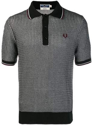 Fred Perry X Art Comes First x Art Comes First patterned knit polo shirt