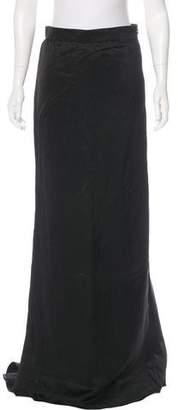 Lanvin Satin Maxi Skirt