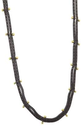 Ten Thousand Things Double Stud Black Chain Choker Necklace