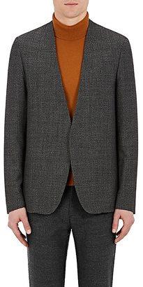 Maison Margiela Men's Wool Collarless Open-Front Sportcoat $895 thestylecure.com