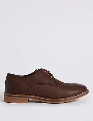 Marks and Spencer Suede Trisole Nubuck Lace-up Gibson Shoes