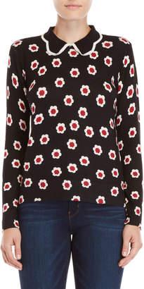 YAL New York Floral Collar Sweater