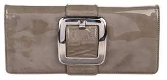 Michael Kors Leather Sutton Clutch