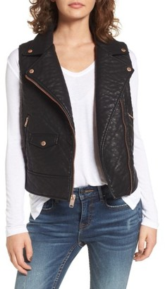 Women's Andrew Marc Billie Faux Leather Vest $128 thestylecure.com