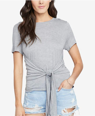 Rachel Roy Cropped Tie-Front T-Shirt