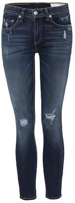 Rag & Bone Capri cropped distressed skinny jeans