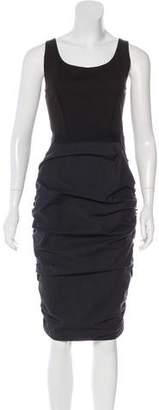 Nina Ricci Sleeveless Ruched Midi Dress