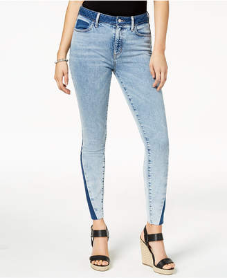 GUESS 1981 Two-Tone Skinny Jeans