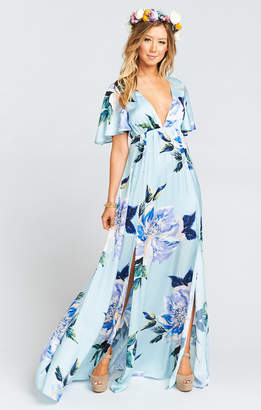 Show Me Your Mumu Faye Flutter Maxi Dress ~ Mint to Be Floral