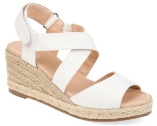 Brinley Co. Womens Comfort Ankle Strap Espadrille Wedge