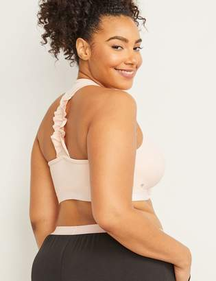 Lane Bryant Cacique Sport Low-Impact Sport Bra - Ruffle Back