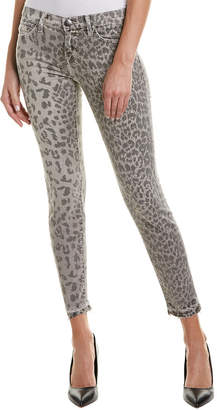 Current/Elliott The Stiletto Grey Leopard Skinny Leg