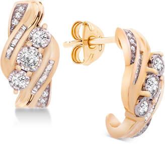 Wrapped in Love Diamond Three-Stone Earrings (1/2 ct. t.w.) in 14k Gold