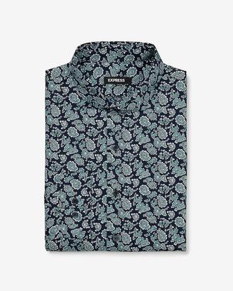 Express Slim Paisley Pattern Dress Shirt