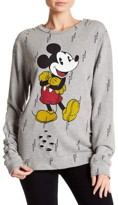 Recycled Karma Mickey Mouse Distressed Sweatshirt