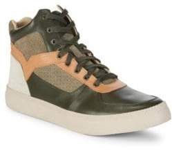 Diesel Classic Leather High Top Sneakers