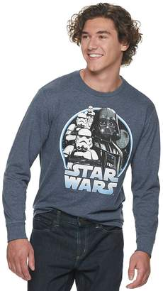 Star Wars Licensed Character Men's Graphic Long Sleeve Tee