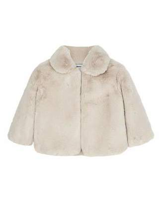 Mayoral Girl's Faux Fur Short Coat, Size 4-7
