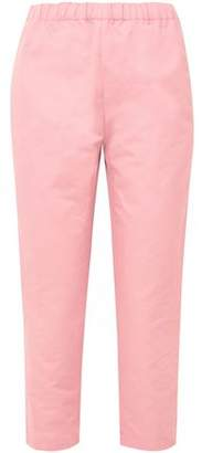 Marni Cropped Linen And Cotton-Blend Twill Straight-Leg Pants