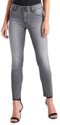 Hudson Collin Raw-Hem Ankle Skinny Jeans