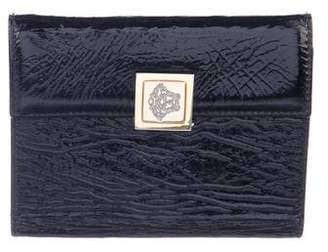 Gianni Versace Patent Leather Medusa Wallet
