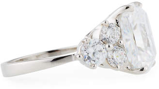 FANTASIA Cushion-Cut CZ Crystal Cocktail Ring