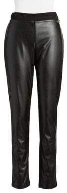 Calvin Klein Faux-Leather Front Leggings