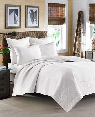 Tommy Bahama Home Nassau White King Quilt Bedding