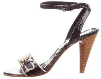 Marc by Marc Jacobs Black Patent Leather Sandals